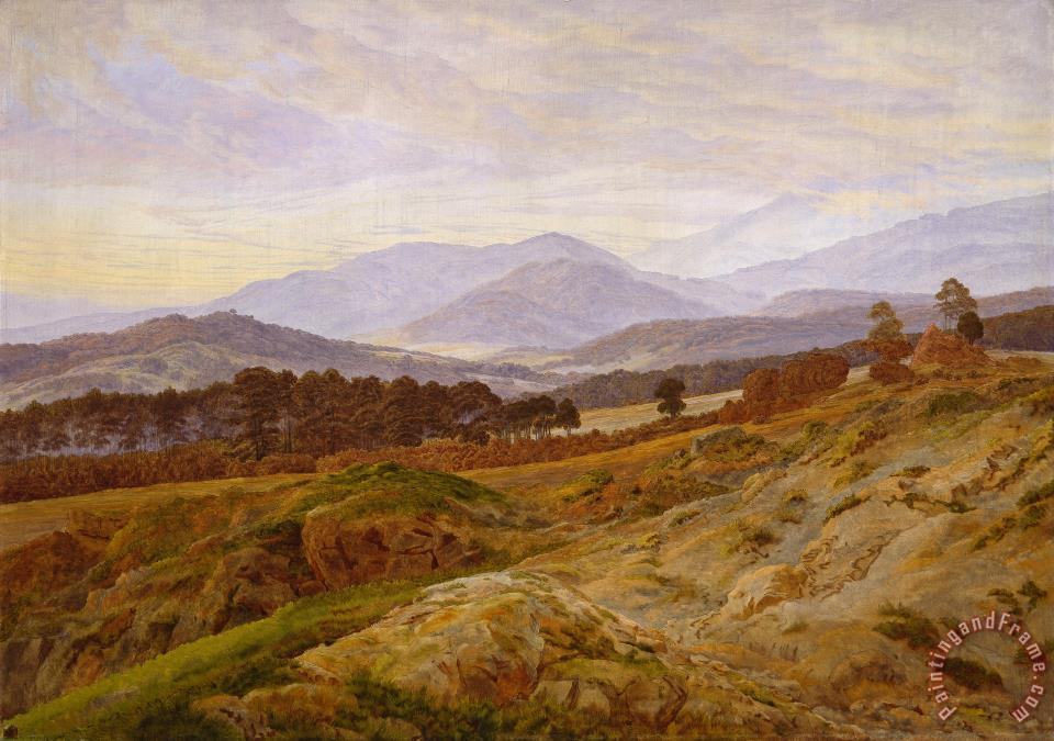 Caspar David Friedrich Mountain in Riesengebirge Art Print