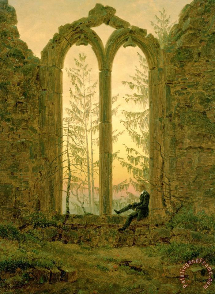 Ruins of The Oybin Monastery (the Dreamer) painting - Caspar David Friedrich Ruins of The Oybin Monastery (the Dreamer) Art Print