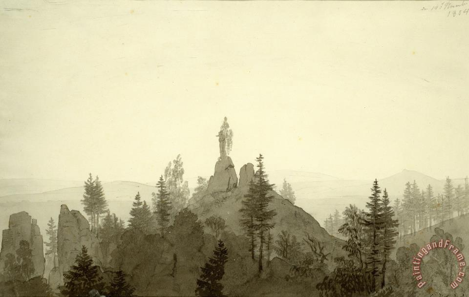 Statue of The Madonna in The Mountains painting - Caspar David Friedrich Statue of The Madonna in The Mountains Art Print