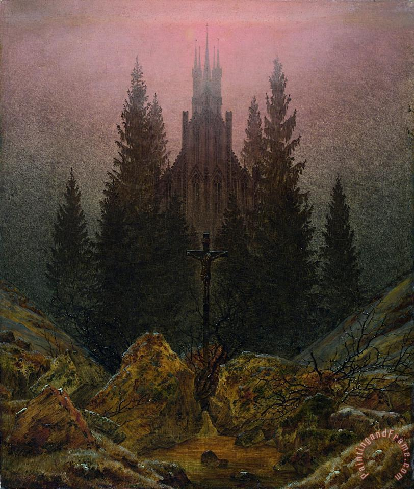 The Cross in The Mountains painting - Caspar David Friedrich The Cross in The Mountains Art Print
