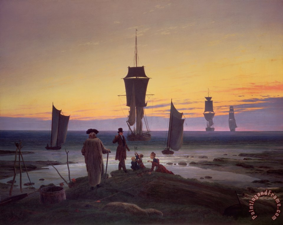 Caspar David Friedrich The Stages of Life Art Print