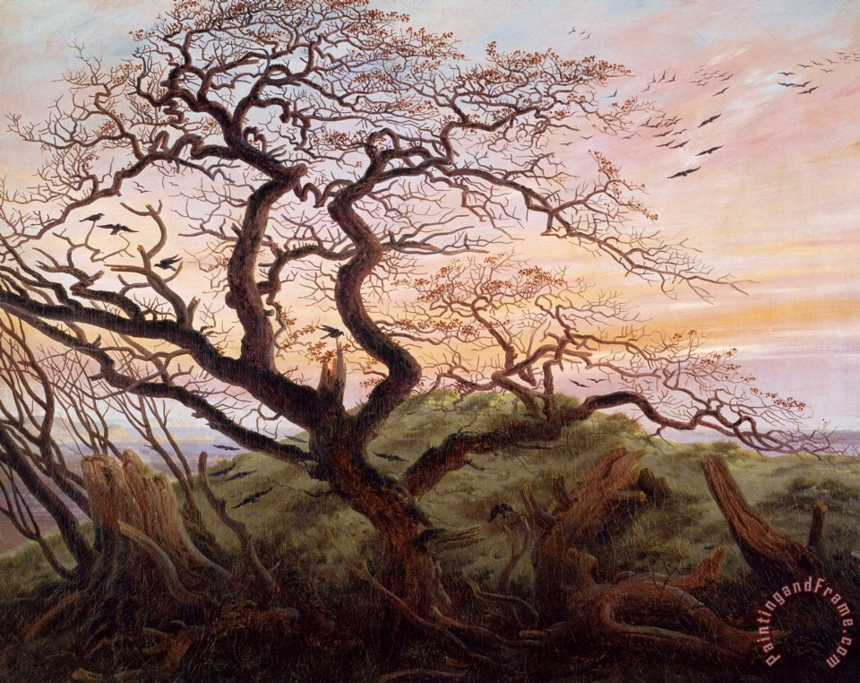The Tree of Crows painting - Caspar David Friedrich The Tree of Crows Art Print