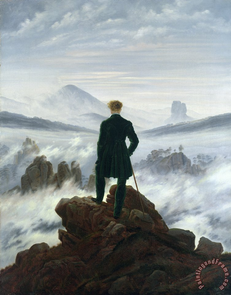 Caspar David Friedrich The Wanderer above the Sea of Fog Art Print