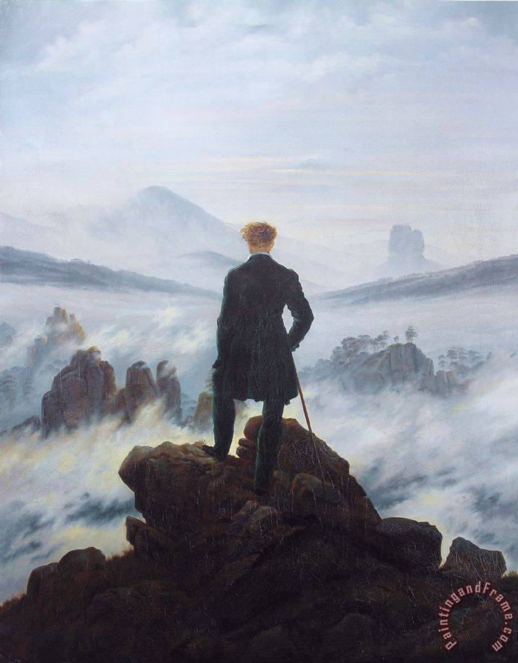 Caspar David Friedrich Wanderer Above The Sea of Fog Art Print