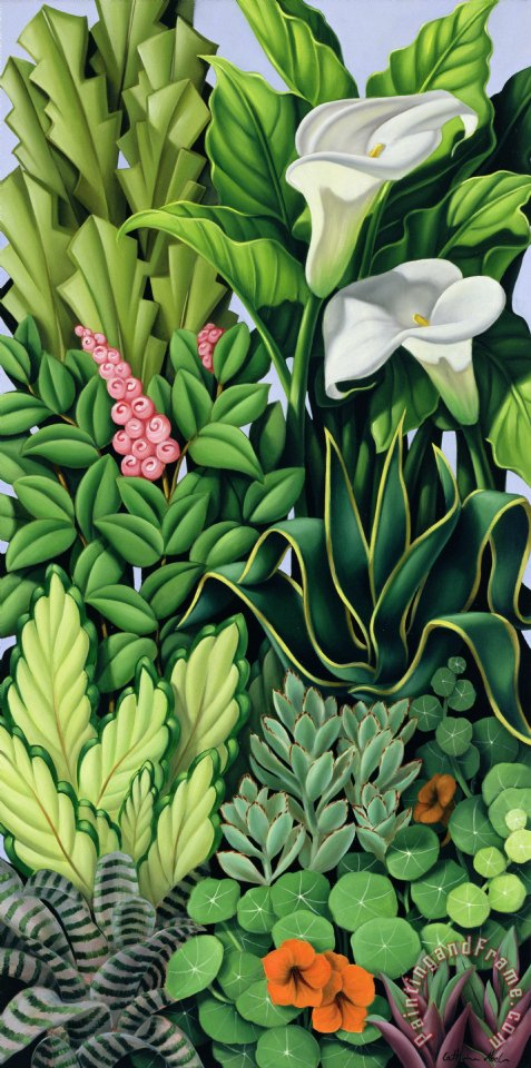 Foliage painting - Catherine Abel Foliage Art Print