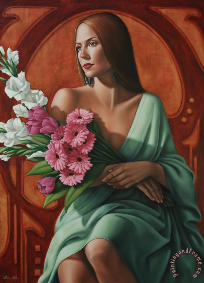 Grace painting - Catherine Abel Grace Art Print