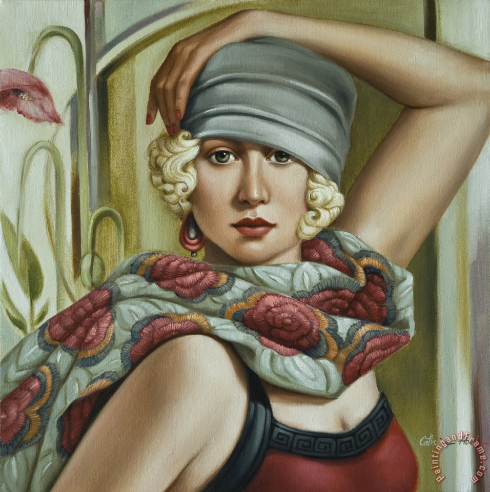 Grey Cloche painting - Catherine Abel Grey Cloche Art Print