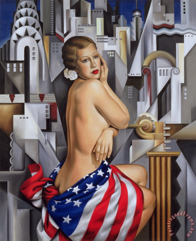 The Beauty of Her painting - Catherine Abel The Beauty of Her Art Print