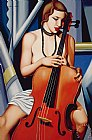 Woman with Cello by Catherine Abel
