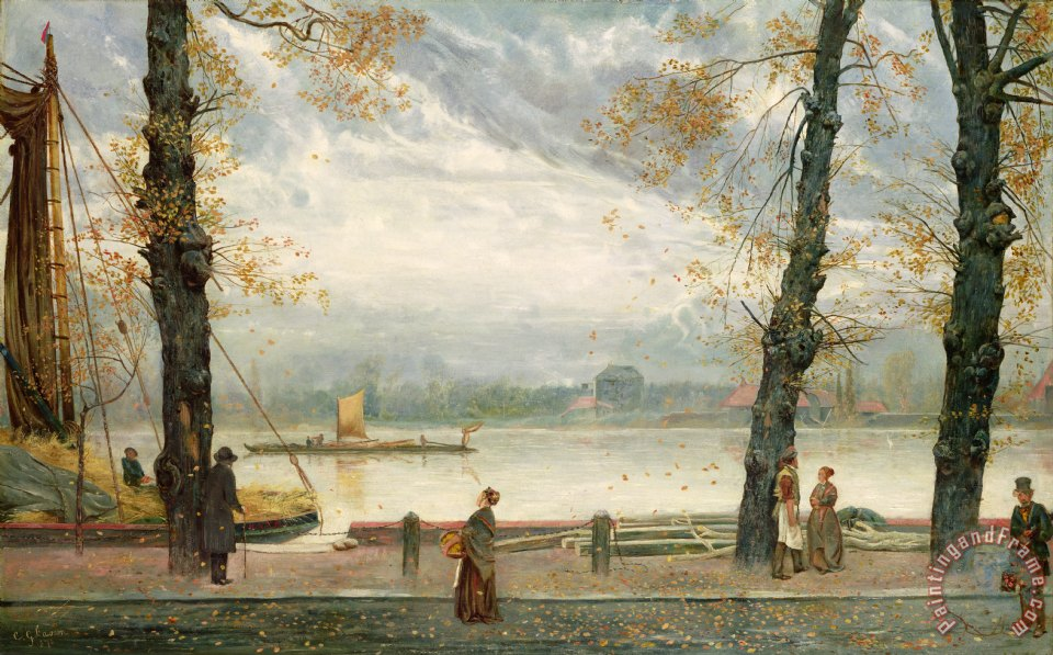 Cheyne Walk painting - Cecil Gordon Lawson Cheyne Walk Art Print