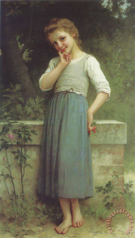 The Cherry Picker painting - Charles Amable Lenoir The Cherry Picker Art Print