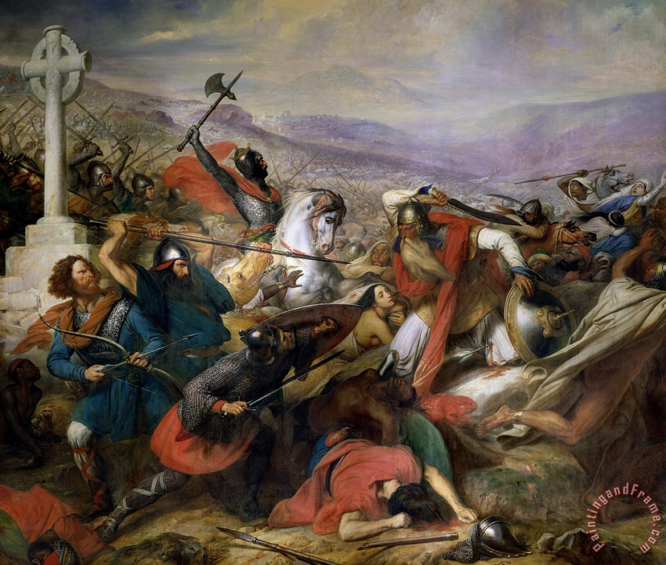 The Battle of Poitiers painting - Charles Auguste Steuben The Battle of Poitiers Art Print