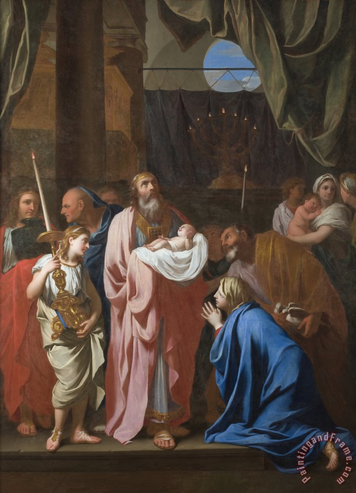 The Presentation of Christ in the Temple painting - Charles Le Brun The Presentation of Christ in the Temple Art Print