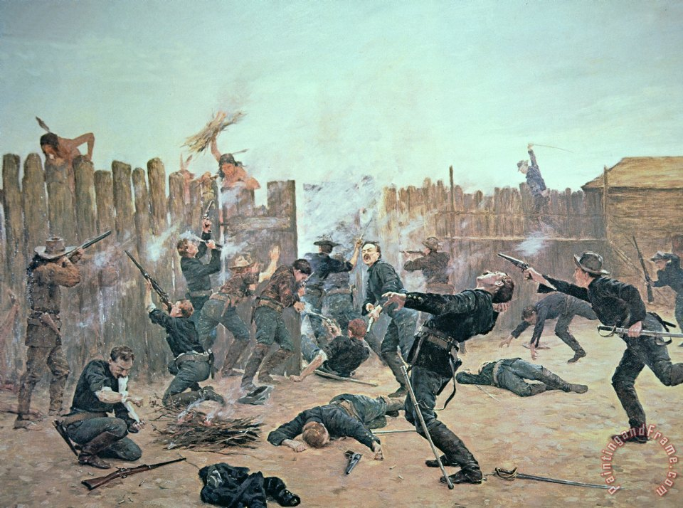 Charles Schreyvogel Defending The Fort Painting