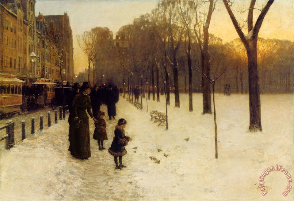 Childe Hassam Boston Common at Twilight Art Print
