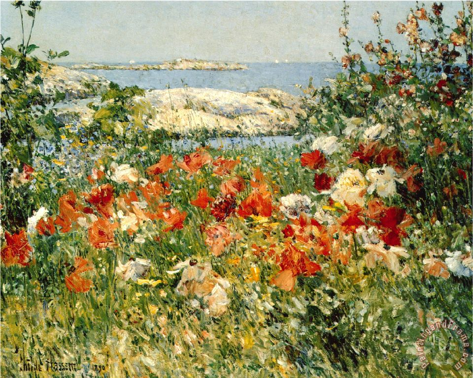 Ocean view painting - Childe Hassam Ocean view Art Print