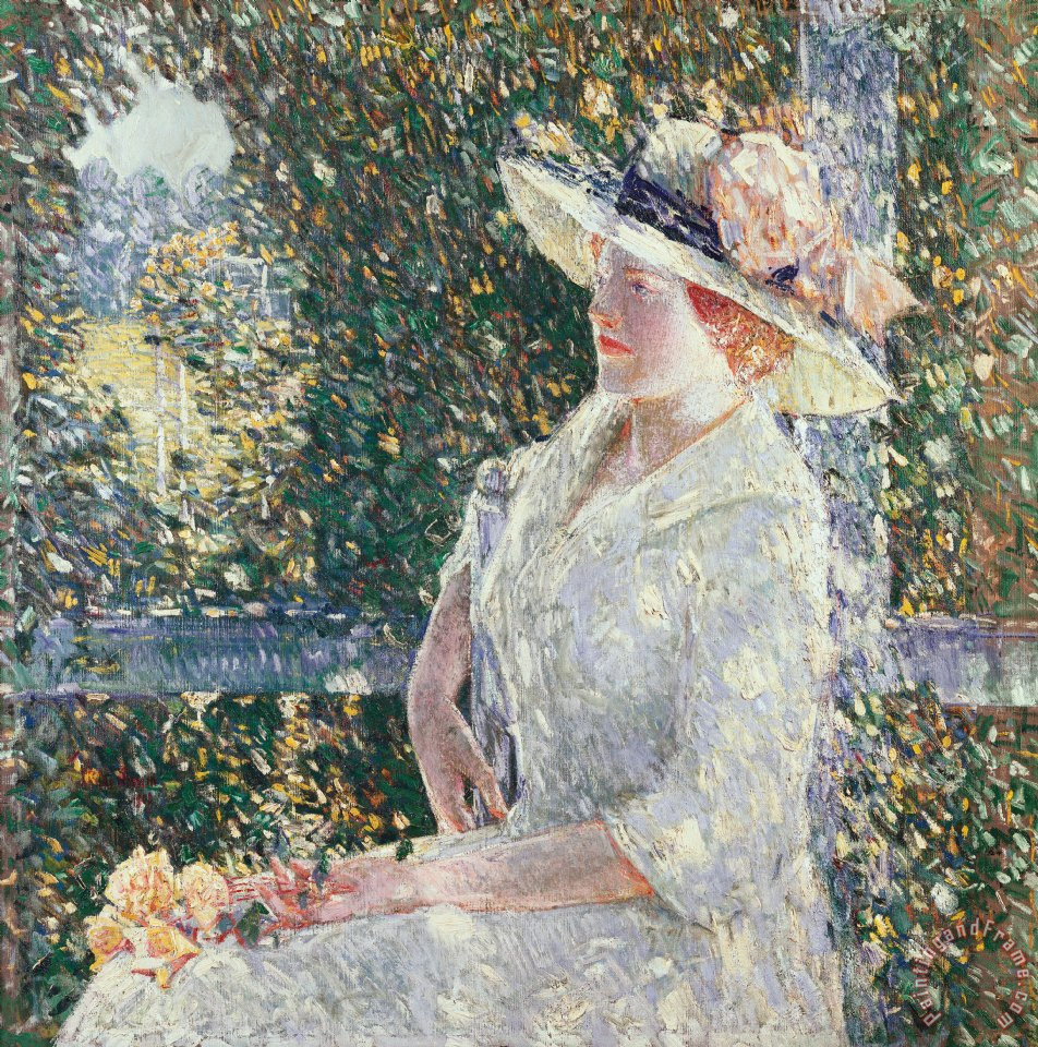Portrait of Miss Weir painting - Childe Hassam Portrait of Miss Weir Art Print