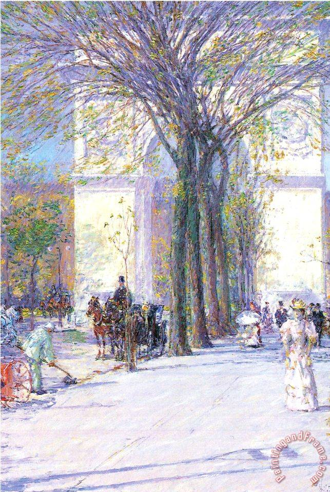 Washington Triumphal Arch in Spring painting - Childe Hassam Washington Triumphal Arch in Spring Art Print