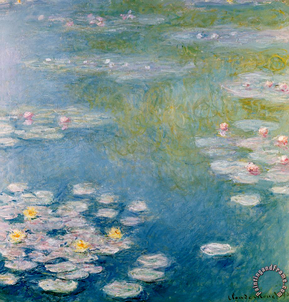 Claude Monet Nympheas at Giverny Art Print