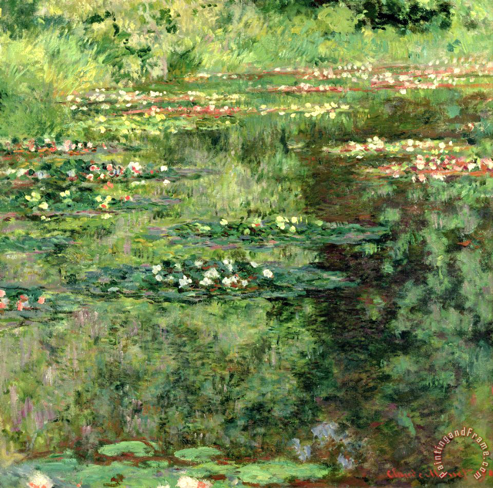 Claude Monet Paintings Water Lily Pond
