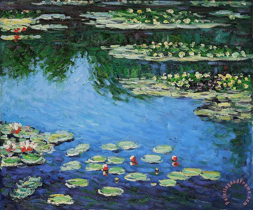 claude monet water lilies painting water lilies print