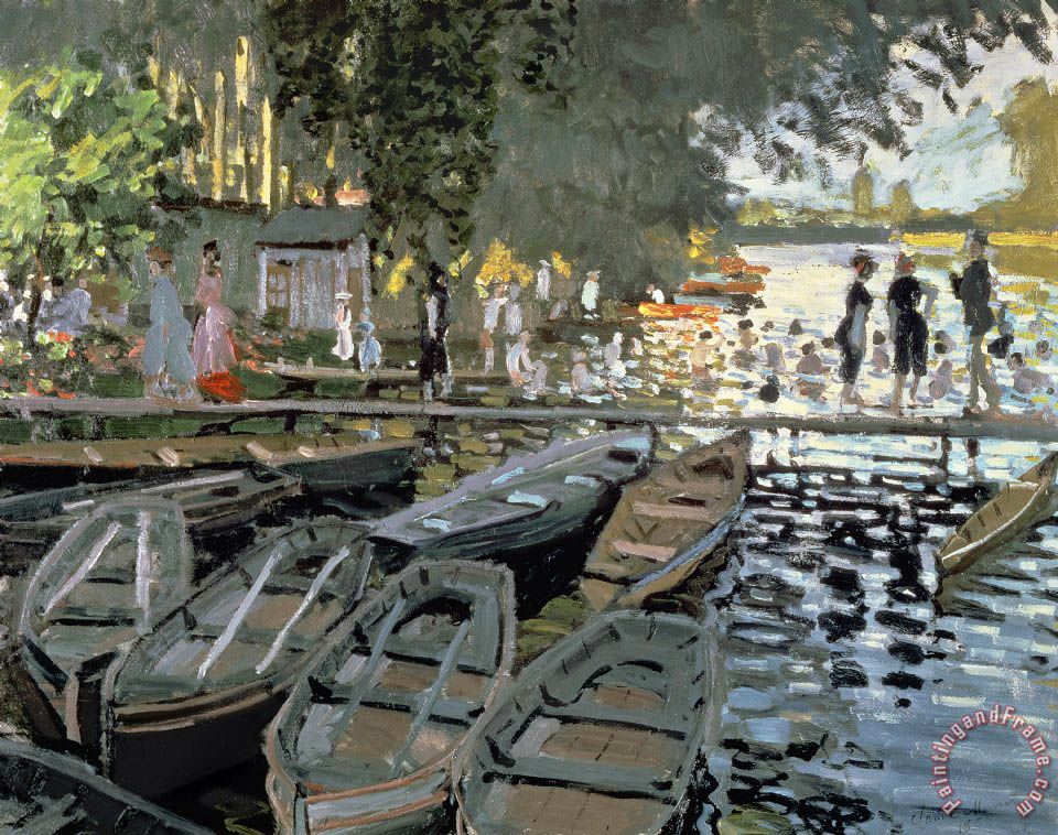 Bathers at La Grenouillere painting - Claude Monet Bathers at La Grenouillere Art Print
