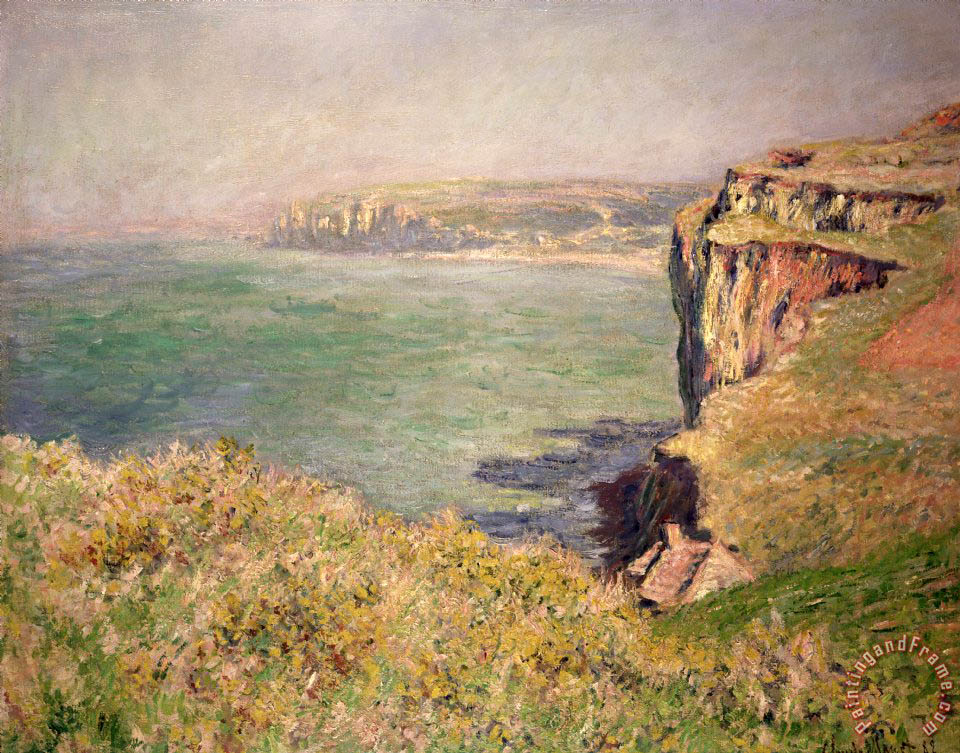 Cliff at Varengeville painting - Claude Monet Cliff at Varengeville Art Print