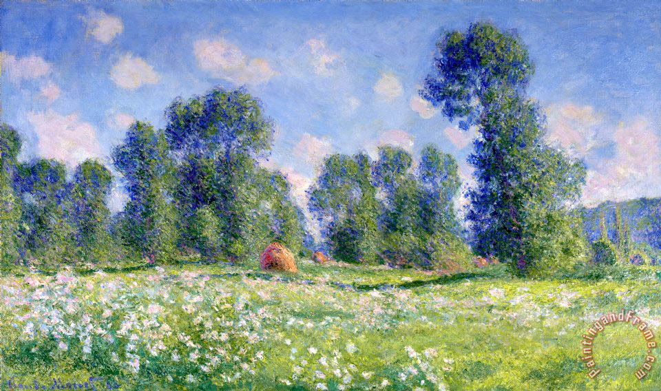 Claude Monet Effect of Spring at Giverny Art Painting