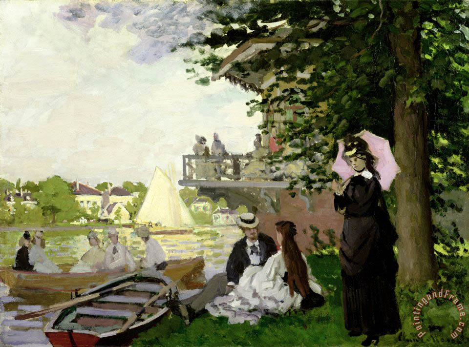 Claude Monet Garden House on the Zaan - Zaandam Art Painting