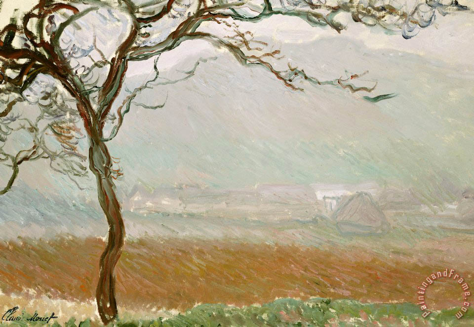 Claude Monet Giverny Countryside Art Painting