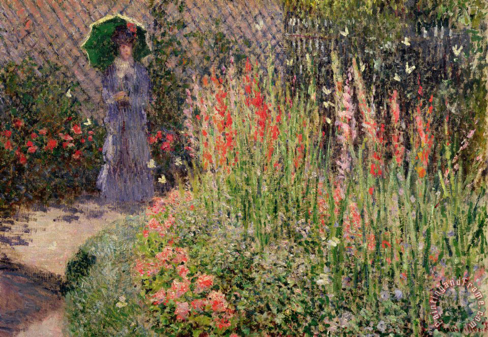 Claude monet gladioli painting gladioli print for sale for Large prints for sale