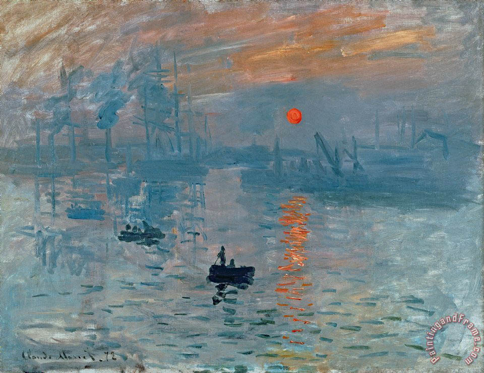 Claude Monet Impression Sunrise painting - Impression ...