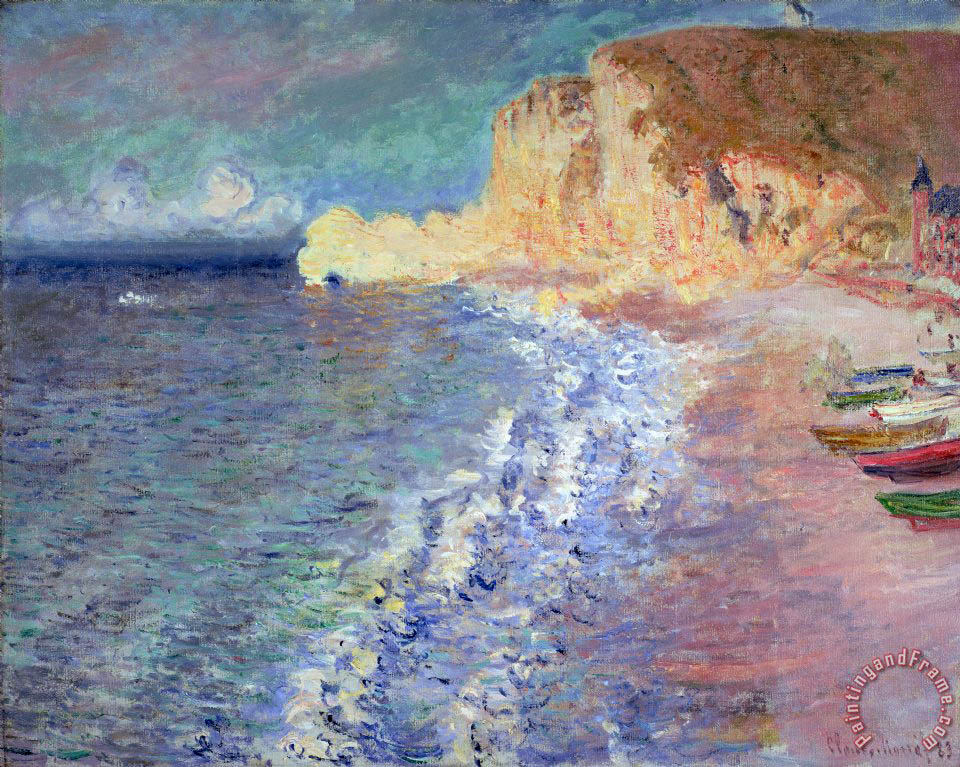 Claude Monet Morning At Etretat Painting Morning At
