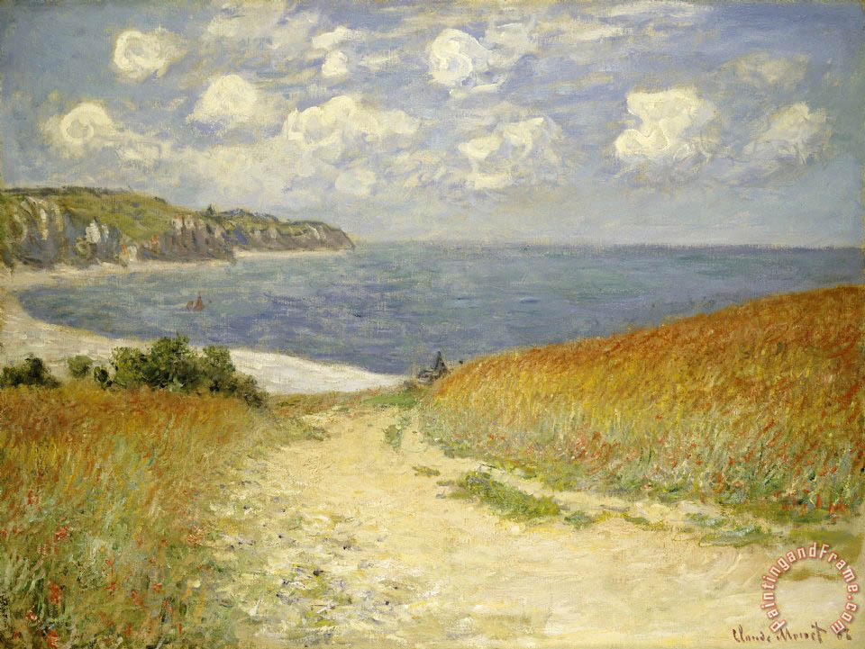 Claude Monet Path in the Wheat at Pourville Art Print