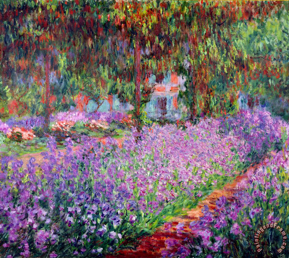 Claude Monet The Artists Garden at Giverny Art Print