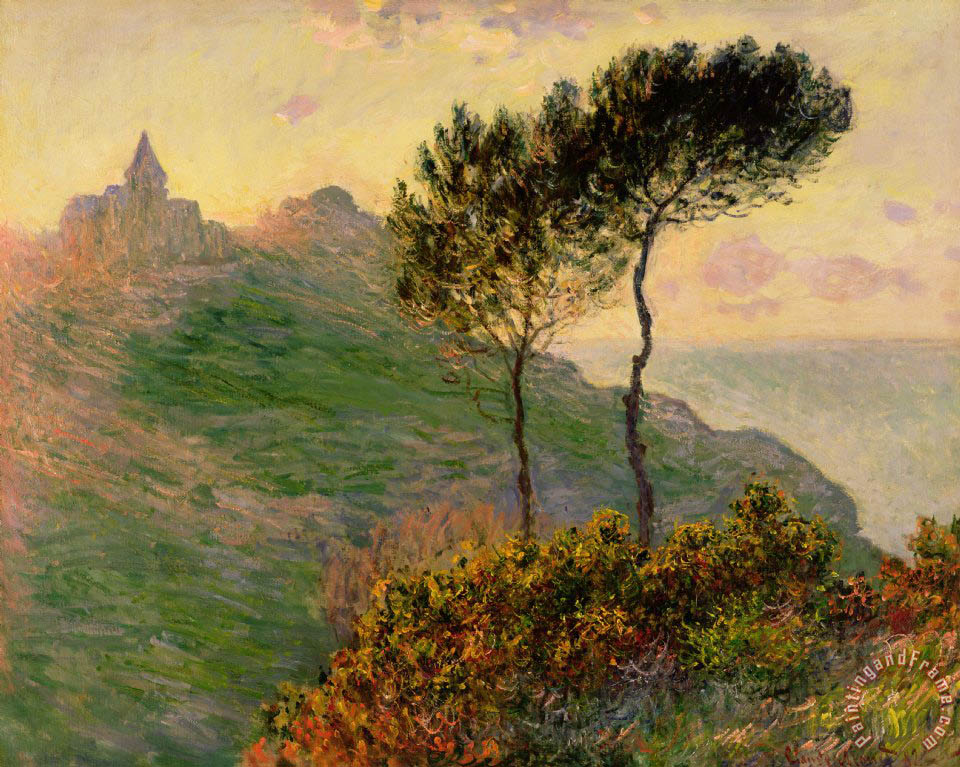 The Church at Varengeville against the Sunlight painting - Claude Monet The Church at Varengeville against the Sunlight Art Print