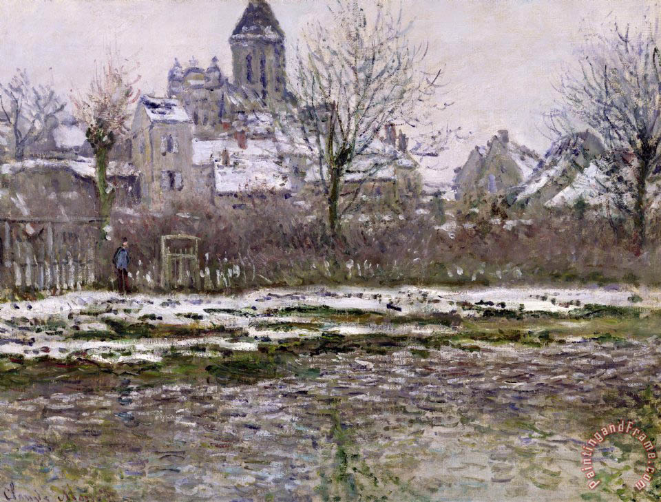 The Church at Vetheuil under Snow painting - Claude Monet The Church at Vetheuil under Snow Art Print