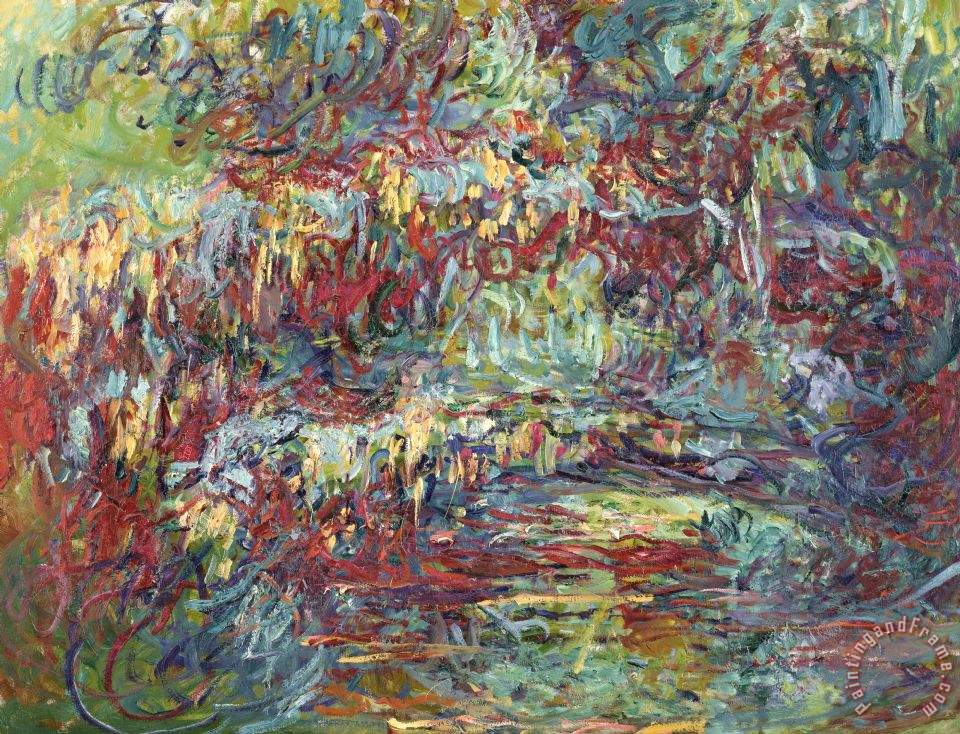 The Japanese Bridge At Giverny painting - Claude Monet The Japanese Bridge At Giverny Art Print