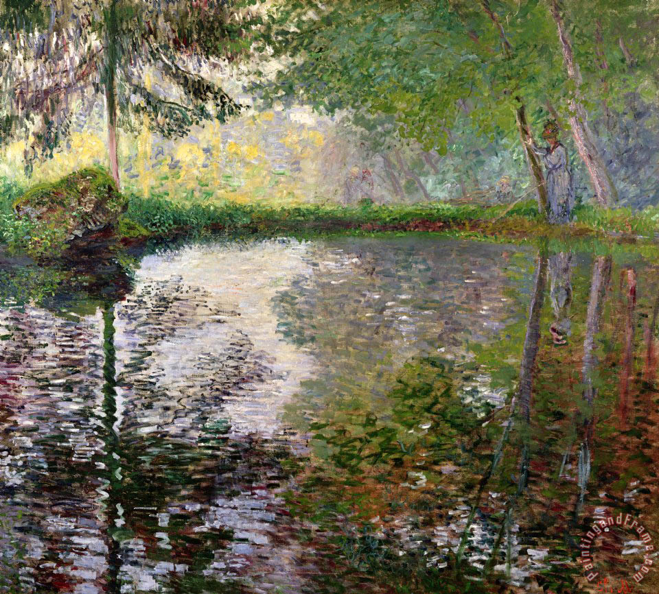 Claude Monet The Lake at Montgeron Art Painting