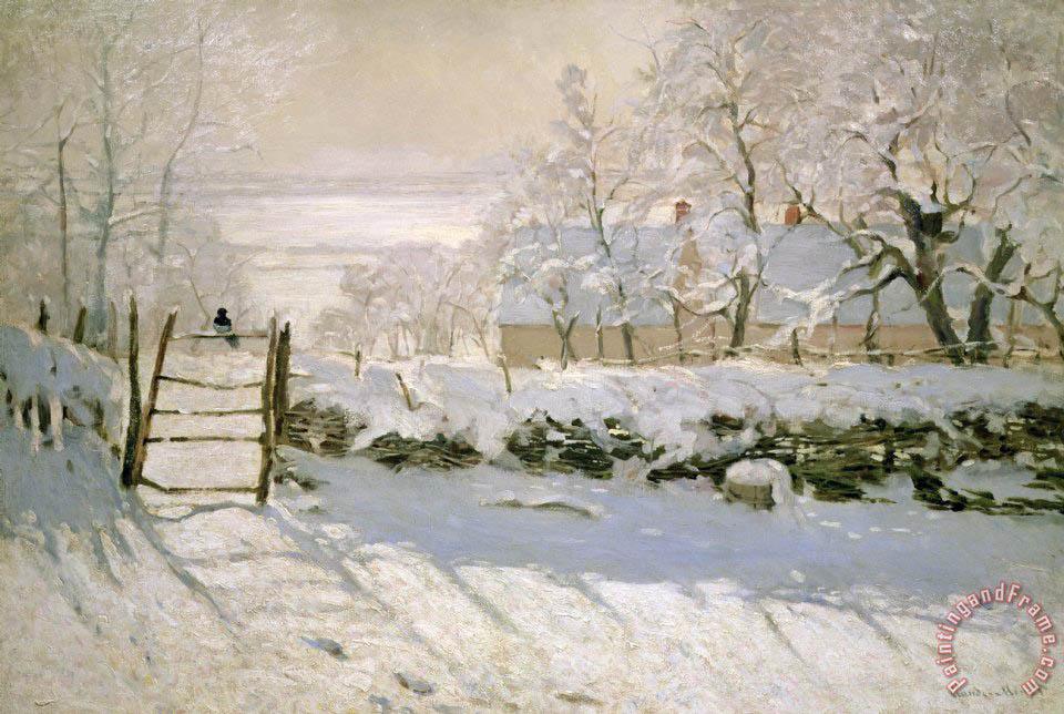 The Magpie painting - Claude Monet The Magpie Art Print