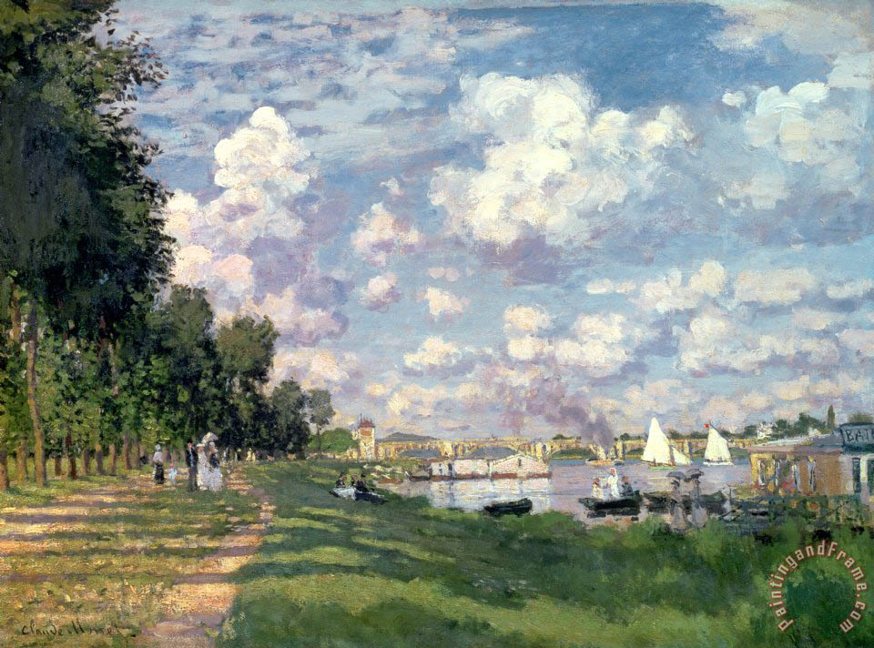 The Marina at Argenteuil painting - Claude Monet The Marina at Argenteuil Art Print