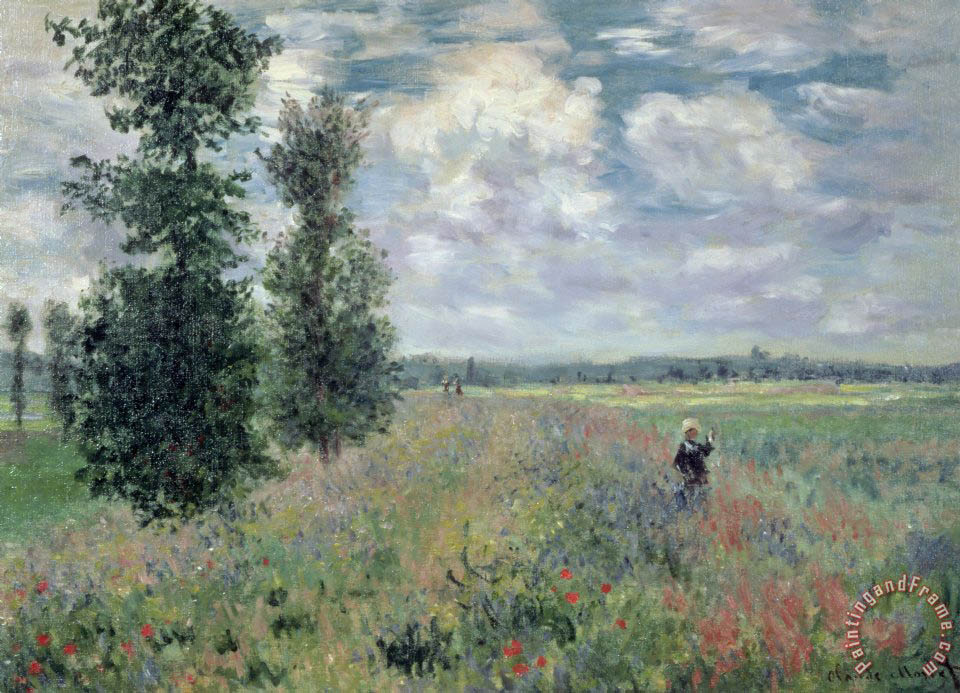 The Poppy Field painting - Claude Monet The Poppy Field Art Print