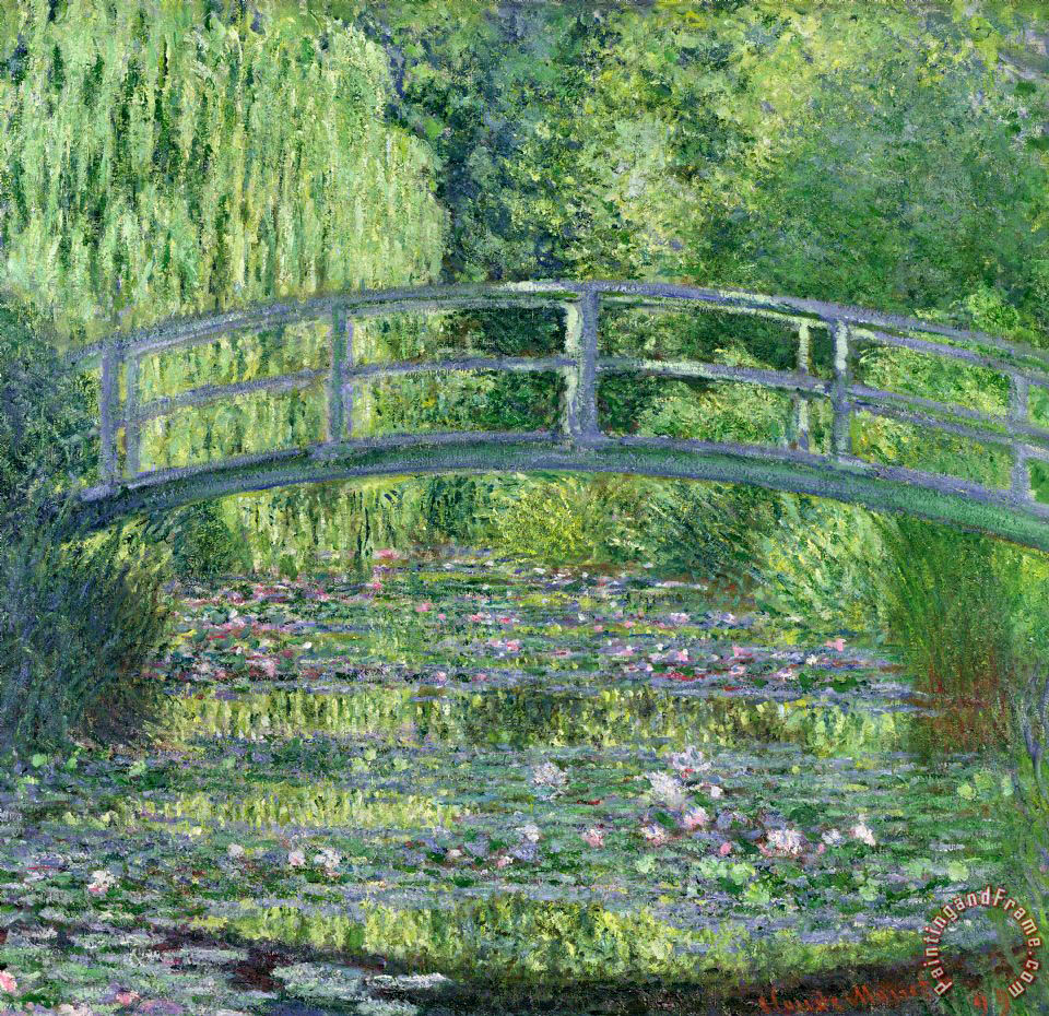 The Waterlily Pond painting - Claude Monet The Waterlily Pond Art Print