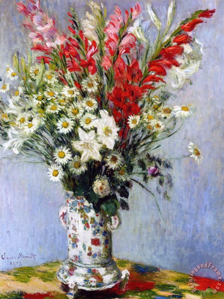 Claude Monet Vase Of Flowers Painting Vase Of Flowers Print For Sale