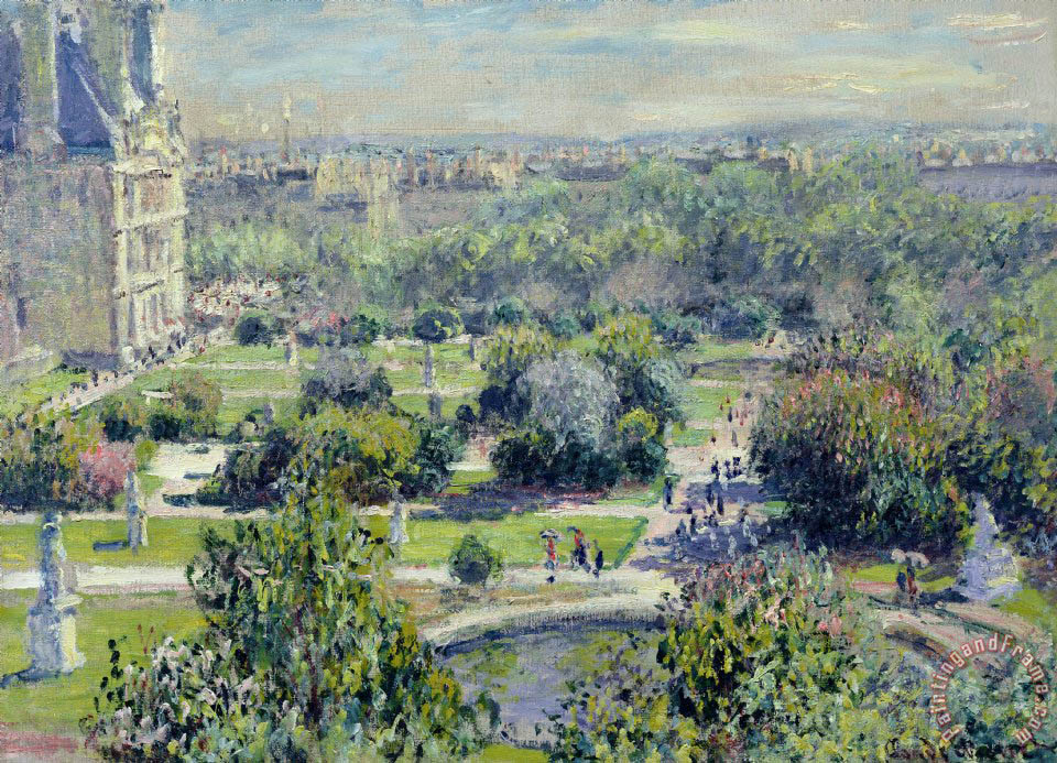 Claude Monet View of the Tuileries Gardens Art Print