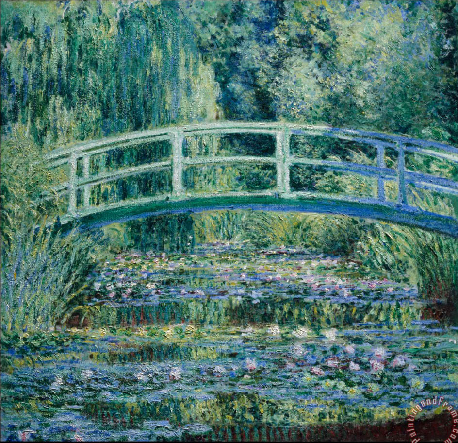 Water Lilies And Japanese Bridge painting - Claude Monet Water Lilies And Japanese Bridge Art Print