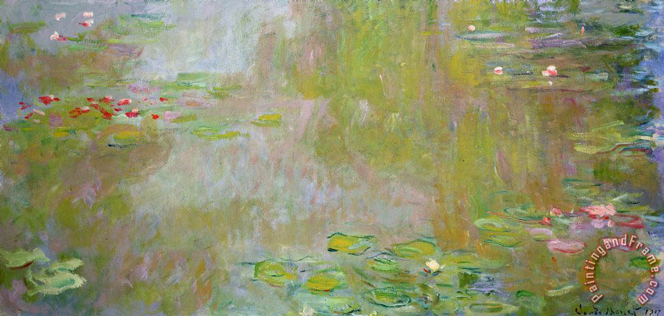 Claude Monet Waterlilies at Giverny Art Print