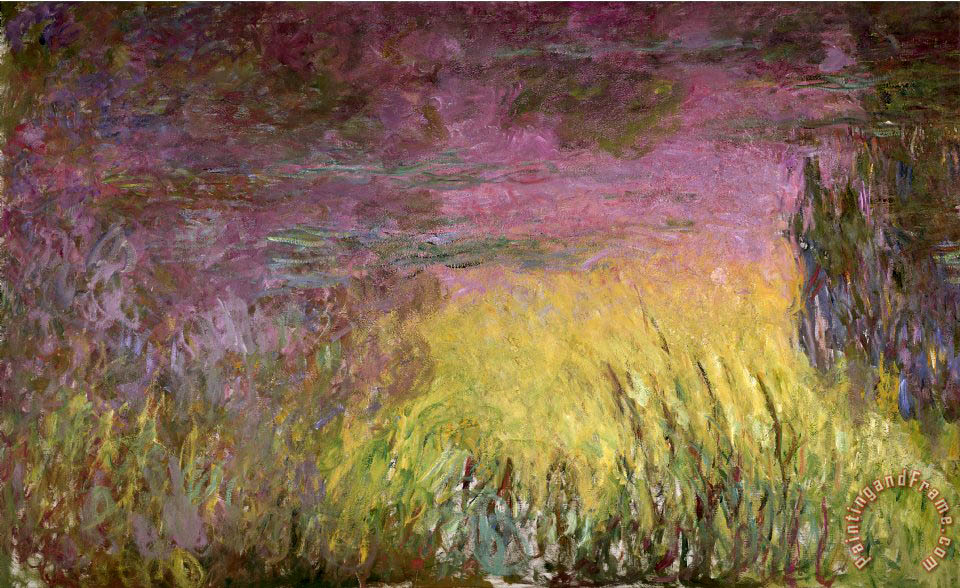 Claude Monet Waterlilies At Sunset Painting Waterlilies