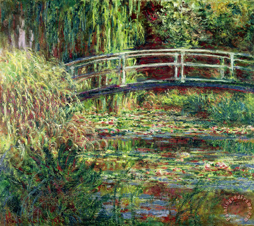 Waterlily Pond painting - Claude Monet Waterlily Pond Art Print