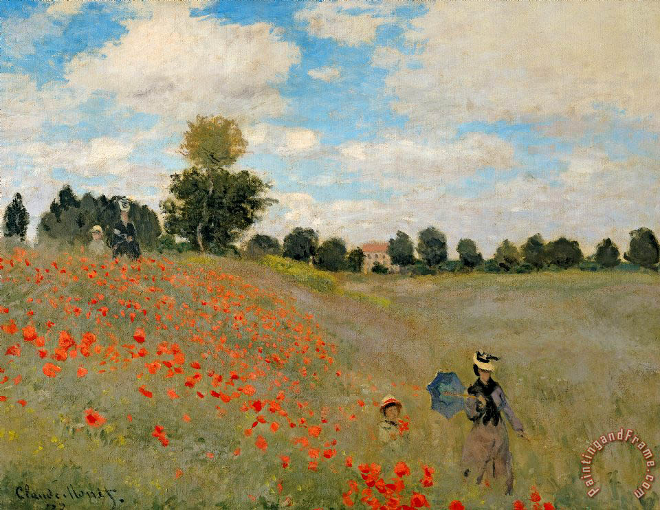 Claude Monet Wild Poppies near Argenteuil Art Print